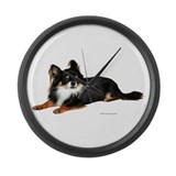 Chihuahua (photo) Large Wall Clock