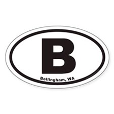Bellingham Washington B Euro Oval Decal