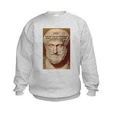 Greek Philosophers: Aristotle Kids Sweatshirt