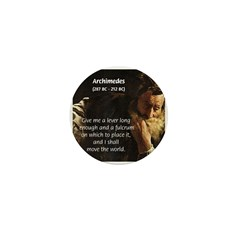 Greek Mathematician: Archimedes Mini Button (10 pa