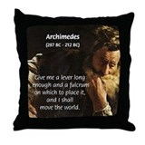 Greek Mathematician: Archimedes Throw Pillow