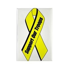 Yellow Ribbon Rectangle Magnet