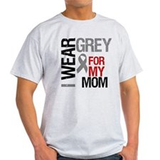 I Wear Grey Mom T-Shirt