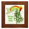 Forks Washington Twilight Framed Tile