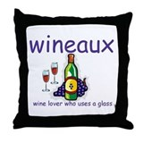 Wineaux Throw Pillow