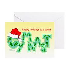 Holiday Gymnast Greeting Card