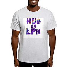 Hug An LPN Ash Grey T-Shirt