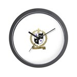VIOLETTE Family Crest Wall Clock