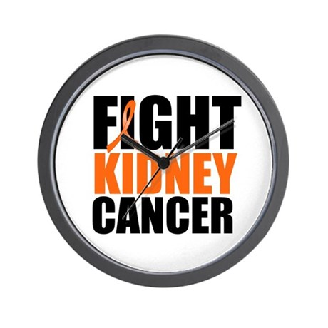 Fight Kidney Cancer Wall Clock
