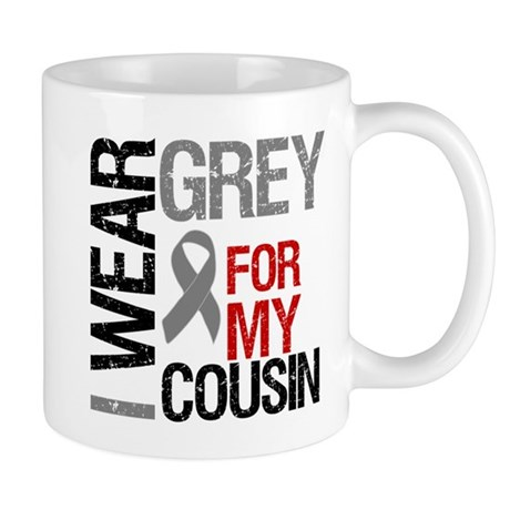 I Wear Grey Cousin Mug