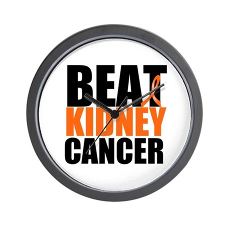 Beat Kidney Cancer Wall Clock