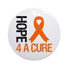 Hope4ACure OrangeRibbon Ornament (Round)