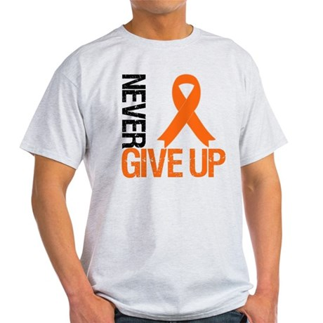 NeverGiveUp OrangeRibbon Light T-Shirt