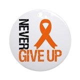 NeverGiveUp OrangeRibbon Ornament (Round)