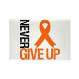 NeverGiveUp OrangeRibbon Rectangle Magnet