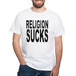 Religion Sucks White T-Shirt