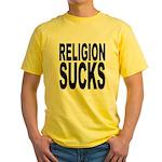 Religion Sucks Yellow T-Shirt