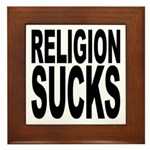 Religion Sucks Framed Tile