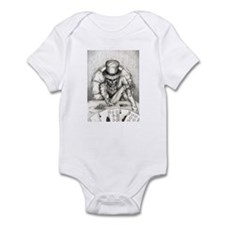 Aces and Eights black and whi Infant Bodysuit