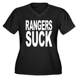 Rangers Suck Women's Plus Size V-Neck Dark T-Shirt