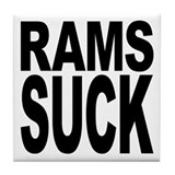 Rams Suck Tile Coaster