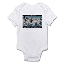 Ski Skiing Canada Infant Bodysuit