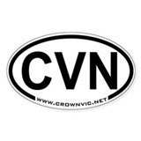 CrownVic.Net CVN Oval Decal