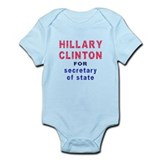 Hillary Clinton for Secretary of State Onesie