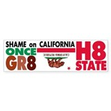 Shame on California Bumper Sticker (10 pk)