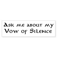 Silence Bumper Bumper Sticker