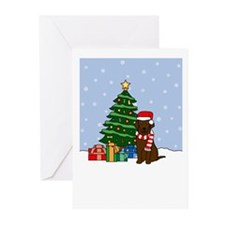 Curly Coat Christmas Greeting Cards (Pk of 10)