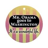 James Stewart/Barack Obama Ornament (Round)