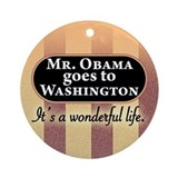James Stewart/Barack Obama Christmas ornament