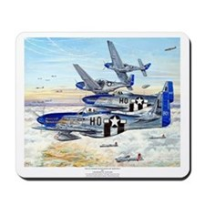 352nd FG P-51 Mustang airplane Mousepad