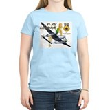 WWII P-38 airplane and pinup  T-Shirt