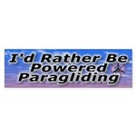 I'd Rather Be Powered Paragliding Bumper Sticker