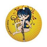 Tattoo Girl Ornament (Round)