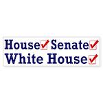 Democratic Party Sweep Bumper Sticker