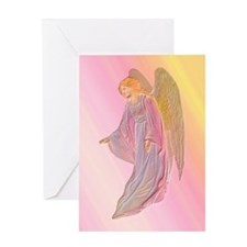 Pink Angel Christmas Card with verse