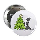 "Border Collie Christmas 2.25"" Button"
