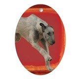 Irish Wolfhound Running Oval Ornament