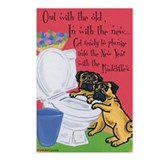 Radcliffe Pugs Postcards (Package of 8)