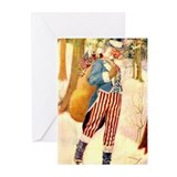 Uncle Sam Santa Claus Greeting Cards (Pk of 10)