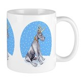Great Dane Deer Blue Small Mugs