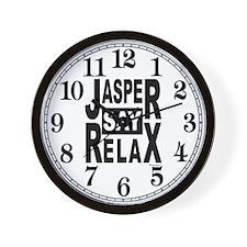 Jasper Say Relax Wall Clock