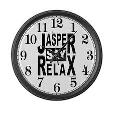 Jasper Say Relax Large Wall Clock