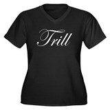 TRILL Women's Plus Size V-Neck Dark T-Shirt