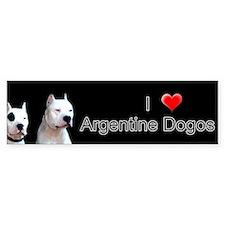 Dogo Argentino Bumper Bumper Sticker