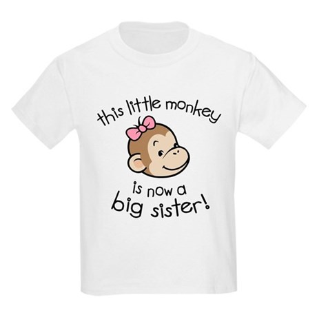 Big Sister - Monkey Face Kids Light T-Shirt