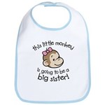 Big Sister to be - Monkey Face Bib
